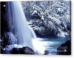Mccoy Falls In January Acrylic Print by Thomas R Fletcher
