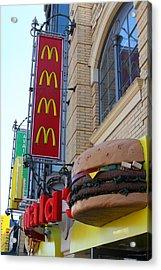 Mcdonalds Hamburger Restaurant . Fishermans Wharf . San Francisco California . 7d14249 Acrylic Print by Wingsdomain Art and Photography