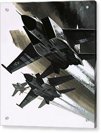 Mcdonnell Douglas F15 Eagle Jet Fighter Acrylic Print by Wilf Hardy