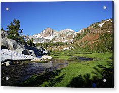 Mcgee Creek Below Red And White Mountain Acrylic Print by Dale Matson