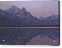 Mcgowen Peak At Sunrise Acrylic Print by John Higby