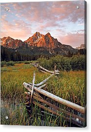 Mcgown Peak Gold Acrylic Print by Leland D Howard