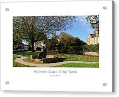 Acrylic Print featuring the digital art Mcindoe Statue by Julian Perry