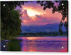 Mcintosh Lake Sunset Acrylic Print by James BO  Insogna