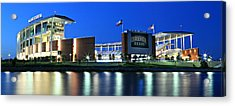 Mclane Stadium Panoramic Acrylic Print by Stephen Stookey