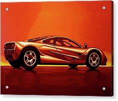 Mclaren F1 1994 Painting Acrylic Print by Paul Meijering
