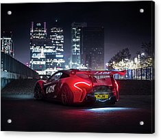 Mclaren P1 Gtr In London Acrylic Print