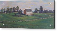 Mcphersons Barn Gettysburg Acrylic Print by Joann Renner