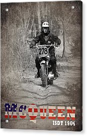 Mcqueen Isdt 1964 Acrylic Print by Mark Rogan