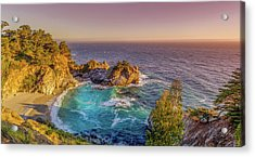Acrylic Print featuring the photograph Mcway Falls Big Sur California by Scott McGuire