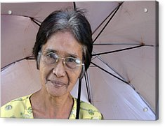 Me And My Brolly 4 Acrylic Print by Jez C Self
