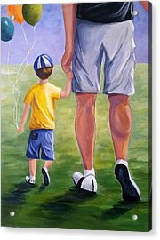 Me And My Dad Acrylic Print