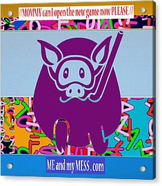 Me And My Mess Dot Com  Kids Room Decorations Acrylic Print by Navin Joshi