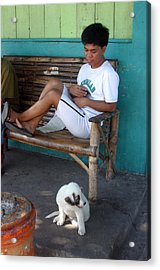 Me And My Pup Acrylic Print by Jez C Self