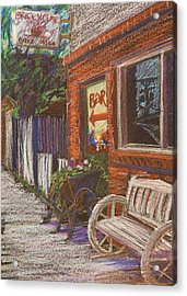Mead Cafe Acrylic Print by Athena  Mantle