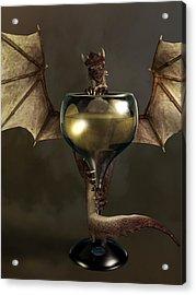 Mead Dragon Acrylic Print by Daniel Eskridge