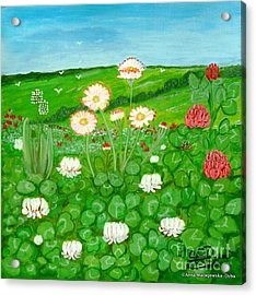 Meadow In Bloom Acrylic Print
