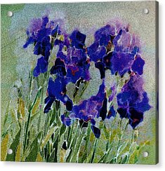 Acrylic Print featuring the photograph Meadow Iris by Linde Townsend