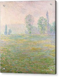Meadows In Giverny Acrylic Print by Claude Monet