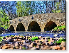 Acrylic Print featuring the photograph Meadows Road Bridge by DJ Florek