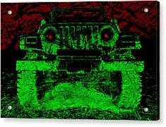 Mean Green Machine Acrylic Print