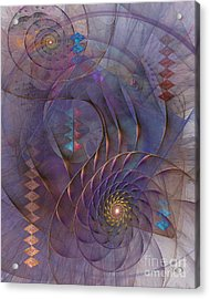 Meandering Acquiescence Acrylic Print by John Robert Beck