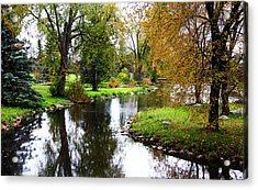 Meandering Creek In Autumn Acrylic Print