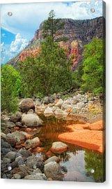 Meandering Oak Creek Canyon Acrylic Print