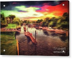 Meanwhile Back On The River Acrylic Print