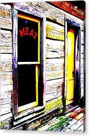 Meat Market Acrylic Print by Ed Smith