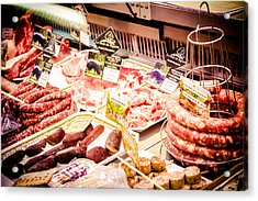 Acrylic Print featuring the photograph Meat Market by Jason Smith
