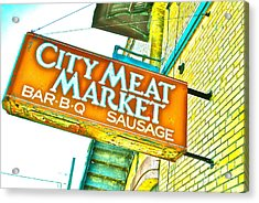 Meat On The Market Acrylic Print by Chuck Taylor