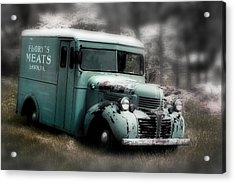 Acrylic Print featuring the painting Meat Truck by Gray  Artus
