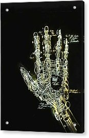 Mechanical Hand Acrylic Print by Ralph Nixon Jr
