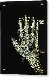 Mechanical Hand Acrylic Print by Ralph Nixon Jr