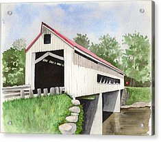 Mechanicsville Rd Bridge Acrylic Print