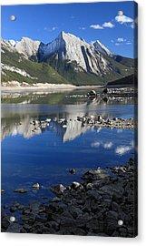 Medecine Lake Jasper National Park Alberta Canada Acrylic Print by Pierre Leclerc Photography