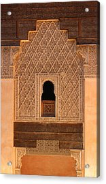 Acrylic Print featuring the photograph Medersa Ben Youssef by Ramona Johnston