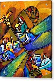 Medicare And Information Technology Acrylic Print by Leon Zernitsky