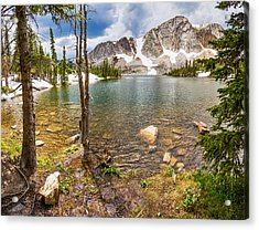 Medicine Bow Snowy Mountain Range Lake View Acrylic Print by James BO  Insogna