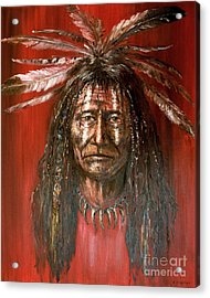 Acrylic Print featuring the painting Medicine Man by Arturas Slapsys