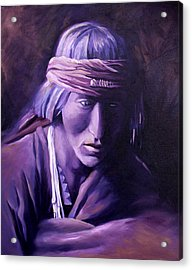 Acrylic Print featuring the painting Medicine Man by Nancy Griswold