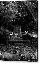 Acrylic Print featuring the photograph Medidation Garden by Amarildo Correa