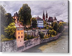 Medieval Basel Switzerland  Acrylic Print by Carol Japp