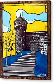 Medieval Bastion -  Mace Tower Of Buda Castle Hungary By Dora Hathazi Mendes Acrylic Print by Dora Hathazi Mendes