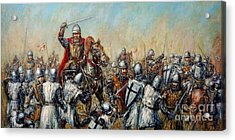 Medieval Battle Acrylic Print by Arturas Slapsys