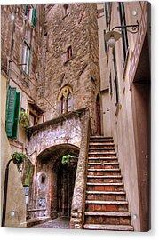 Medieval Borgo In Nettuno Acrylic Print
