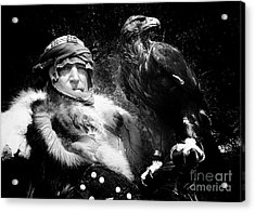 Acrylic Print featuring the photograph Medieval Fair Barbarian And Golden Eagle by Bob Christopher