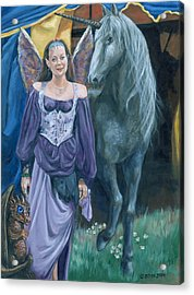 Acrylic Print featuring the painting Medieval Fantasy by Bryan Bustard