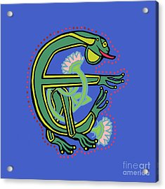 Medieval Frog Letter E Acrylic Print